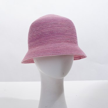 Pink Cloche Blocked Plain Hat Base