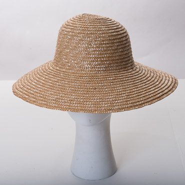 Natural Milan Swinger Blocked Plain Hat Base