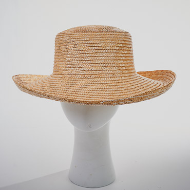 Natural Milan Flat Top Roller Blocked Plain Hat Base