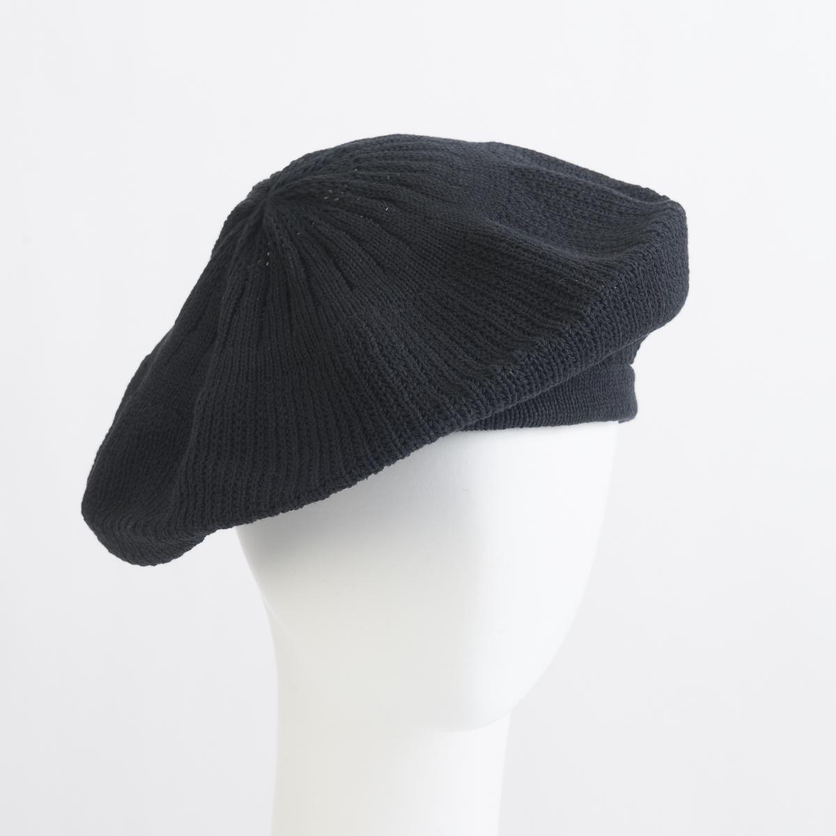 Black Cotton Knitted Beret-771006-BK- Sun Yorkos  0da06468eee