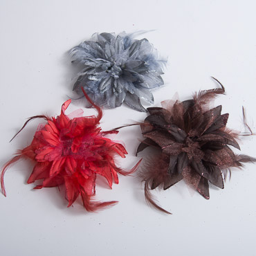 Glitter Feather Silk Flower
