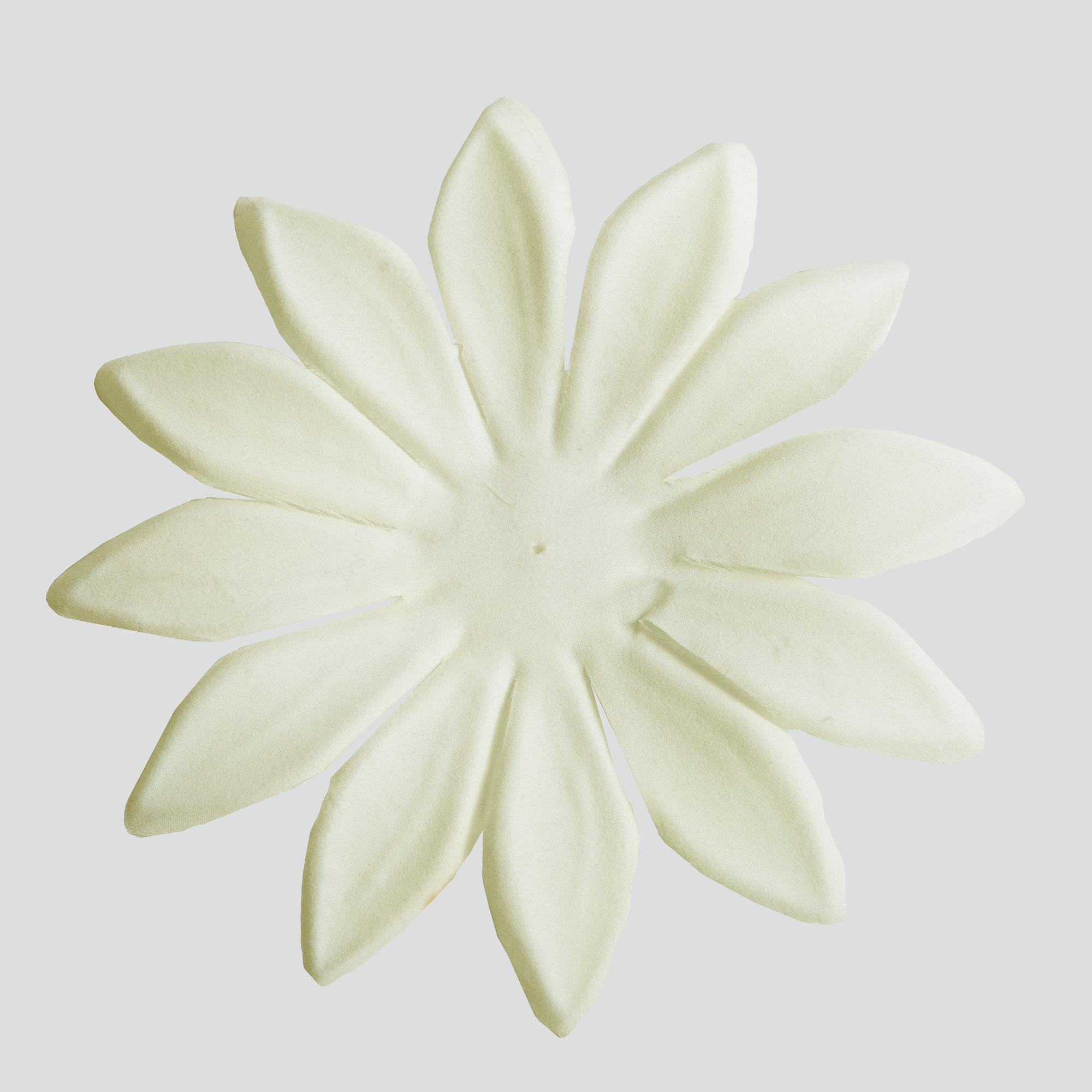 Ivory Large Satin Fabric Flower Petals 5pc 802012 05 Ivy Sun