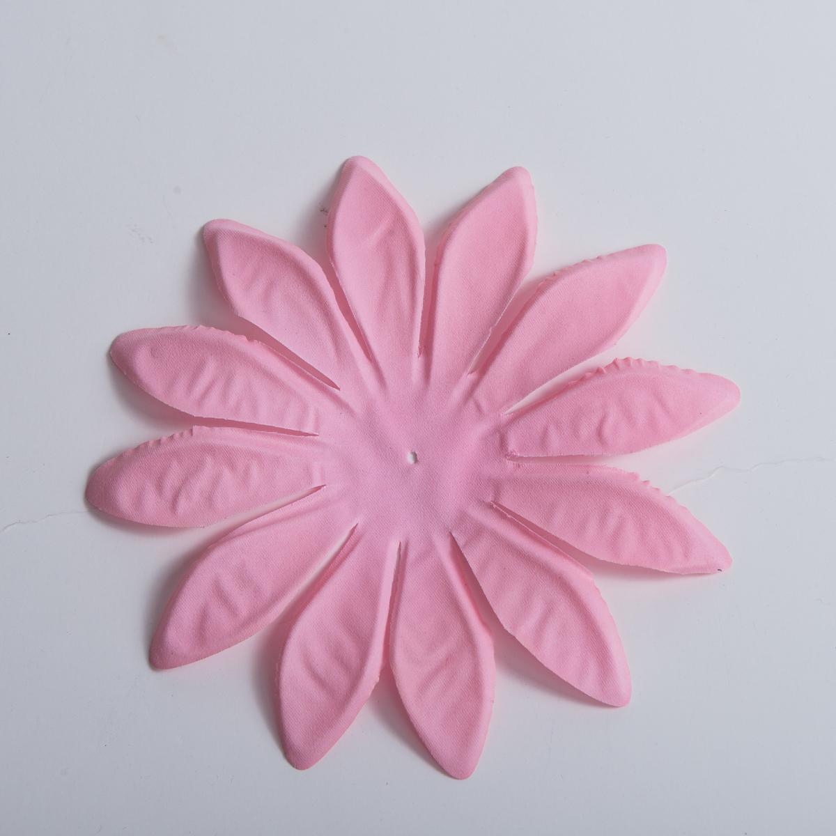 Pink Large Satin Fabric Flower Petals 5pc 802012 05 Pnk Sun Yorkos