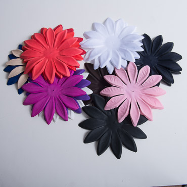 Large Satin Fabric Flower Petals- 5PC