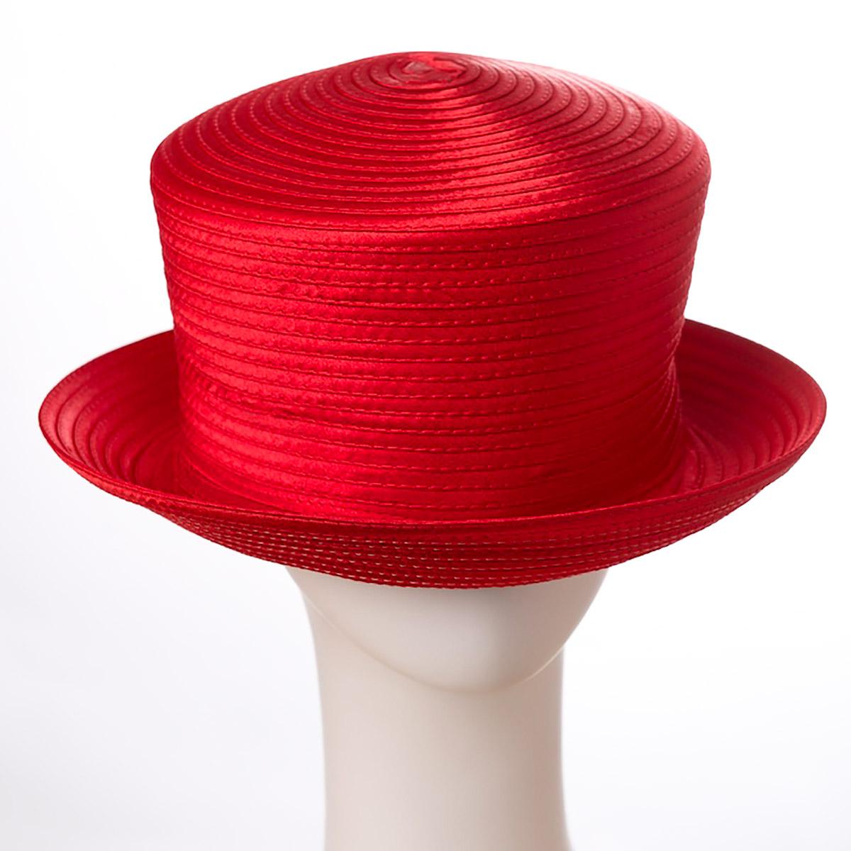 Red Small Brim Satin Hats-805104-1- Sun Yorkos  38a3370319cc