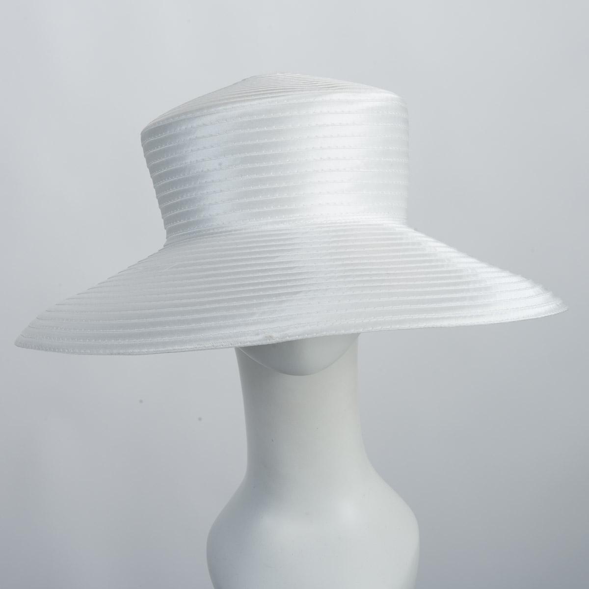 9e4005a1f732a White Madhatter Crown Downbrim Stain Hats-805105-WT- Sun Yorkos