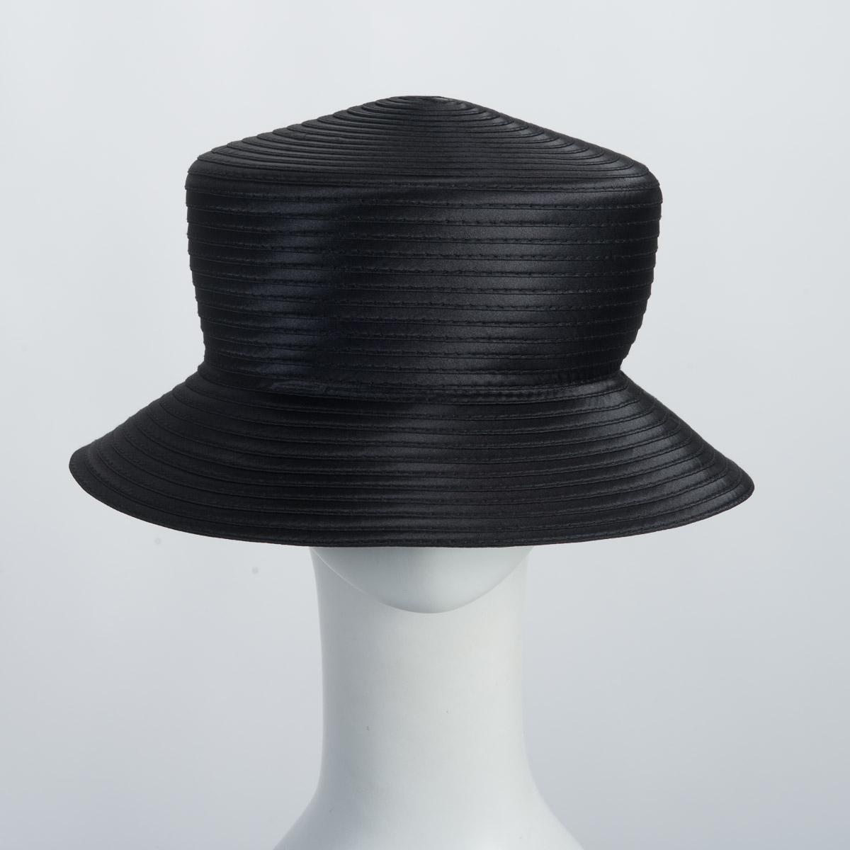 a4b262f305b Black Satin Braid Bucket Plain Hat Base Adjustable Sweatband-805109-BK- Sun  Yorkos
