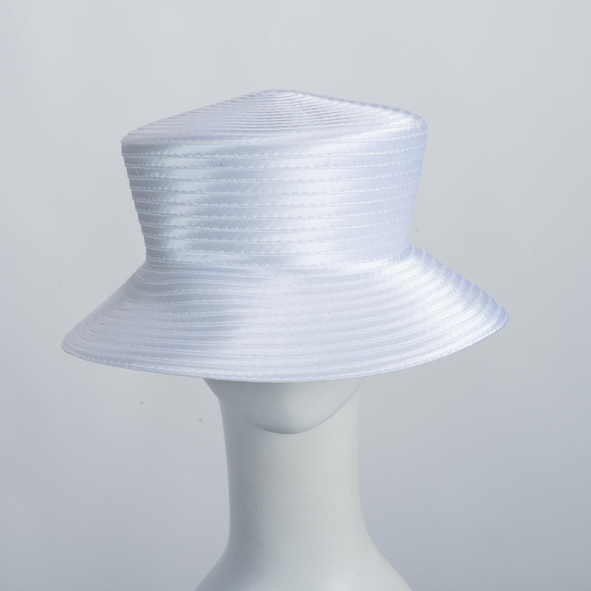 bc052fafcdc White Satin Braid Bucket Plain Hat Base Adjustable Sweatband-805109-WT- Sun  Yorkos