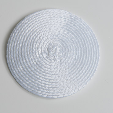 White Round Poly Straw Fascinator Cocktail Hat Base