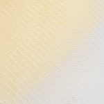 3'' Cream Crin Shiny PP Edge Horsehair Fabric Braid; 36YD