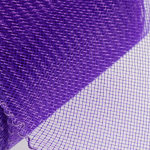 3'' Purple Crin Shiny PP Edge Horsehair Fabric Braid; 36YD
