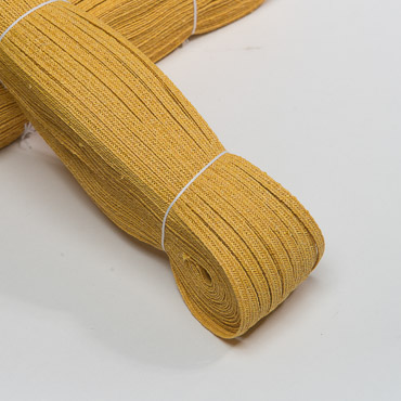 Nugget Gold 5-6 mm Raffia Poly Straw Braid - 144 YD