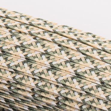 5 5-6Mm Pistachio Mix Pattern Dull Polypropylene Straw Straw Braid; 144YD