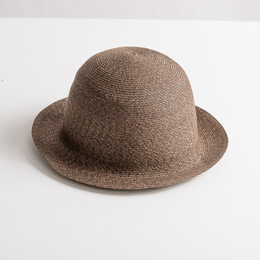 Tweed Brown Small Brim Toyo Paper Hat Body