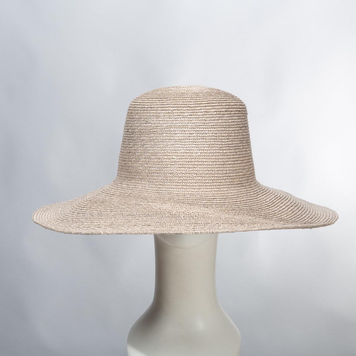Grey Wide Brim Milan Straw Hat Bodies-BR72 5MM-5-GY- Sun Yorkos  842f6874bda6