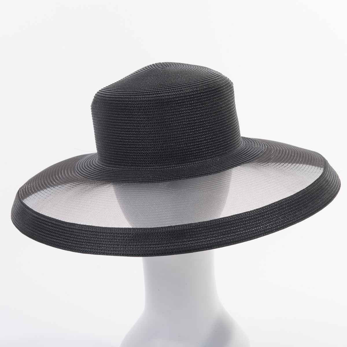 2f691c296 Matt Poly Crinoline Wide Brim Plain Hats-CE8876R- Sun Yorkos | Zoria