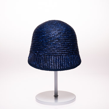 Navy Small Brim Milan Straw Caps Blocked Plain Hat Base