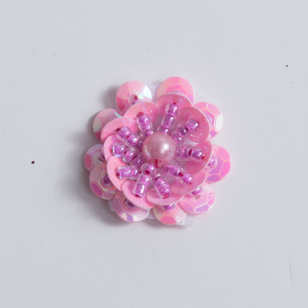 Hot Pink Iris Small Sequin Flower Beading Appliques 100pc Ch