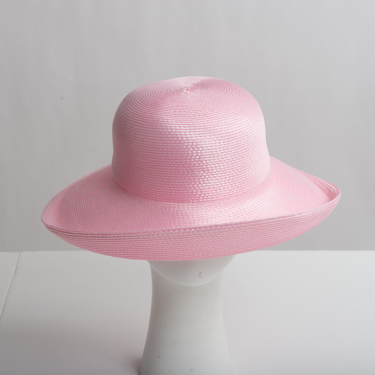 2ecd1d85446b62 Pink Polypropylene Straw Medium Brim Plain Hats-CK01R-0-14- Sun Yorkos |  Zoria