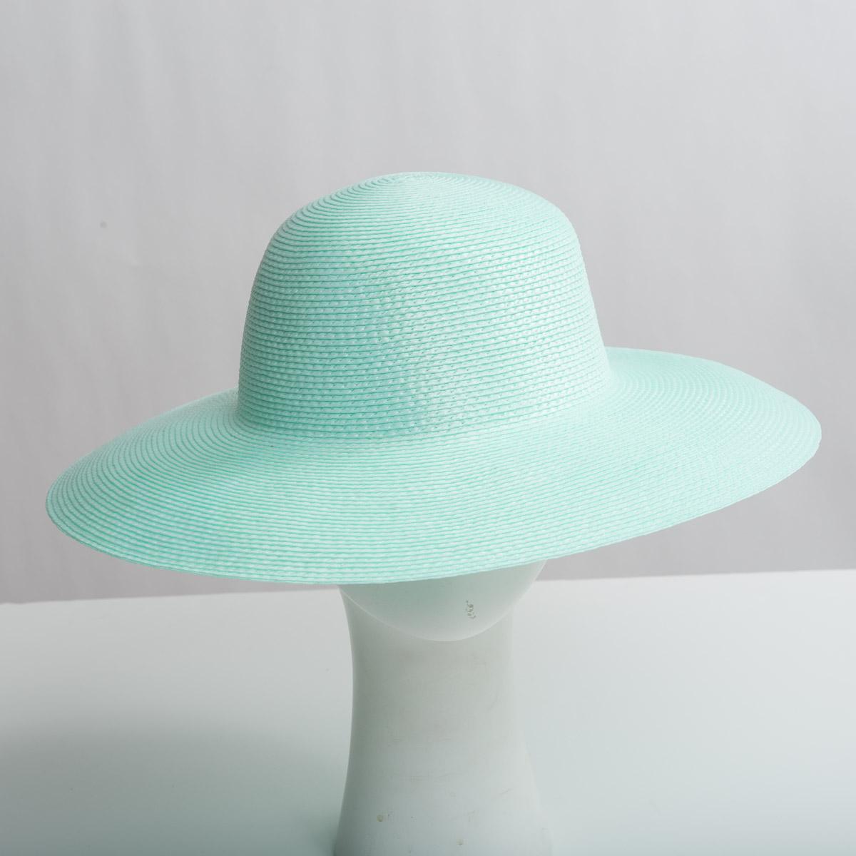 623a1acf6089ef Mint Green Medium Brim Blocked Untrimmed Poly Straw Hat Base-Sun Yorkos |  KaKyco Accessories