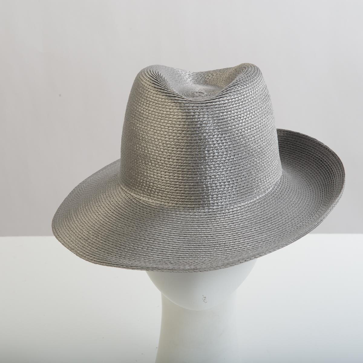 f0fe3a3d7a82f3 Light Grey Polypropylene Straw Medium Brim Plain Hats-KD01R-0-07- Sun Yorkos  | Zoria