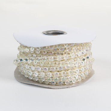 Clear AB 6mm Half Beads String 15YD