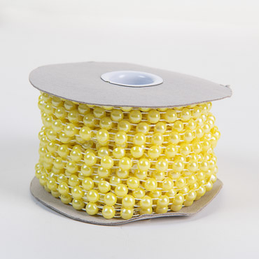Yellow 6mm Half Beads String 15YD