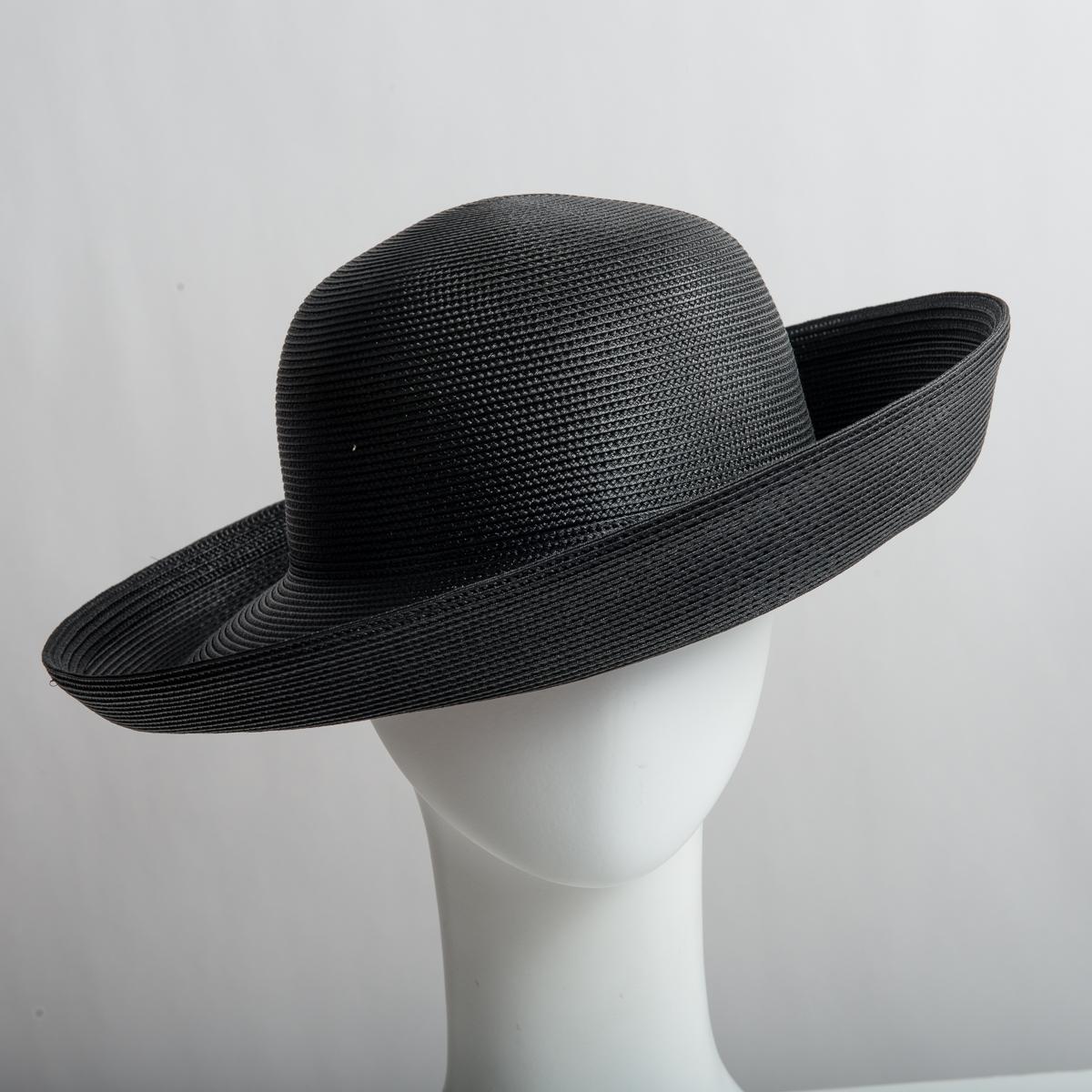 3e41f3df486268 Black Medium Brim 100% Polypropylene Plain Hats-NC88R-0-05- Sun Yorkos |  Zoria
