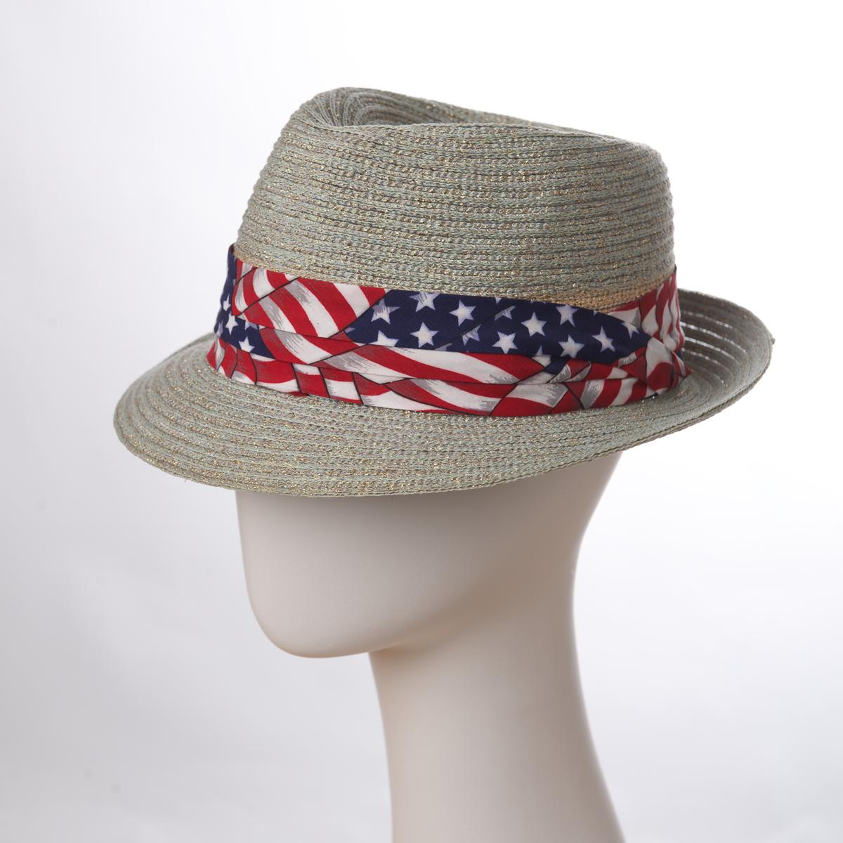American Flag 3 Pleats Printed Puggaree Hat Bands P1551 31