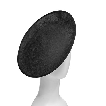 Black Large Scallop Sinamay Millinery Bases