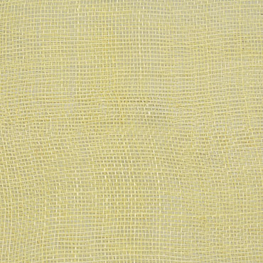 Light Yellow Medium Stiff Machine Weave Sinamay Fabric; 50M