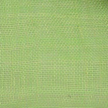 Lime Medium Stiff Machine Weave Sinamay Fabric; 50M