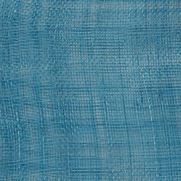 Dark Turquoise Medium Stiff Machine Weave Sinamay Fabric; 50M