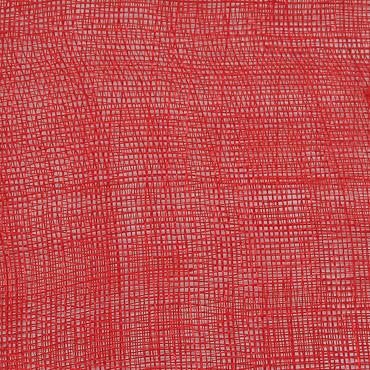 Red Medium Stiff Machine Weave Sinamay Fabric; 50M