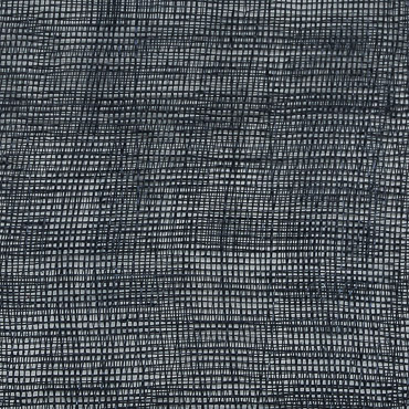 Navy Medium Stiff Machine Weave Sinamay Fabric; 50M