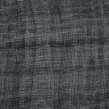 Black Medium Stiff Machine Weave Sinamay Fabric; 50M