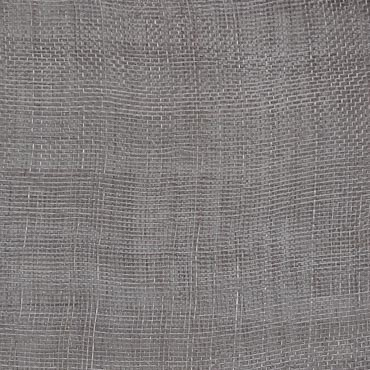 Dark Grey Medium Stiff Machine Weave Sinamay Fabric; 50M