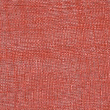 Hot Coral Medium Sizing Stiff Sinamay Fabric; 50M