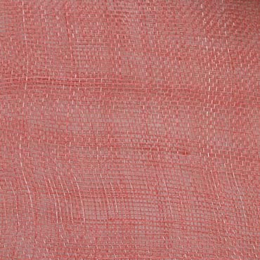 New Coral Medium Sizing Stiff Sinamay Fabric; 50M