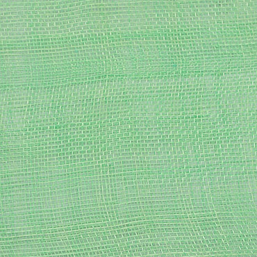 Apple Green Medium Sizing Stiff Sinamay Fabric; 50M