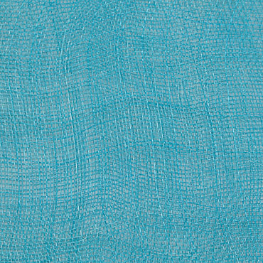 Turquoise Medium Stiff Machine Weave Sinamay Fabric; 50M