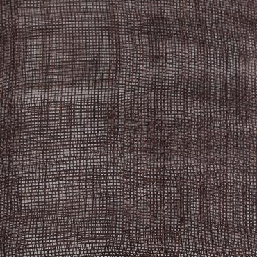 Dark Brown Medium Sizing Stiff Sinamay Fabric; 50M