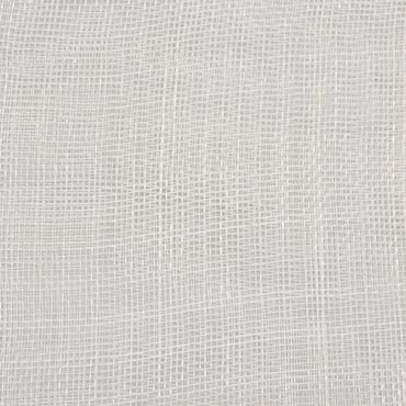 Ivory Medium Stiff Machine Weave Sinamay Fabric; 50M