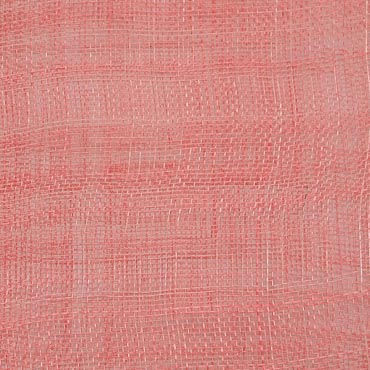 Coral Medium Stiff Machine Weave Sinamay Fabric; 50M