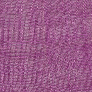 Purple Orchid Medium Stiff Machine Weave Sinamay Fabric - 50M