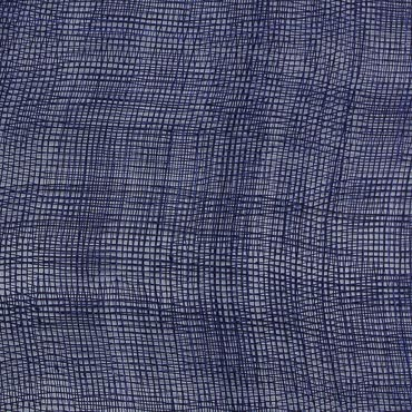 Navy Royal Medium Stiff Machine Weave Sinamay Fabric; 50M