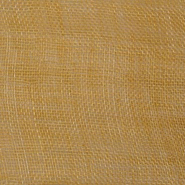 Dark Gold Medium Stiff Machine Weave Sinamay Fabric; 50M