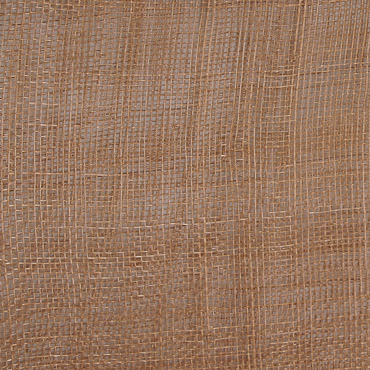 Tan Medium Stiff Machine Weave Sinamay Fabric; 50M