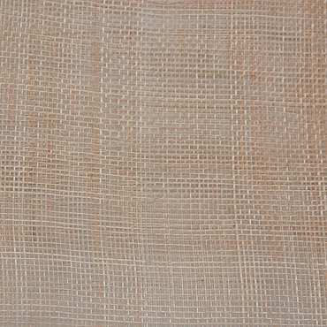 Natural Medium Stiff Machine Weave Sinamay Fabric; 50M