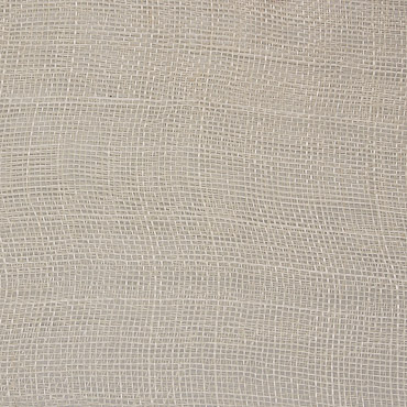 Light Cream Medium Stiff Machine Weave Sinamay Fabric; 50M
